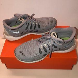 Grey Nike Free Runs (Size 4.5Y)